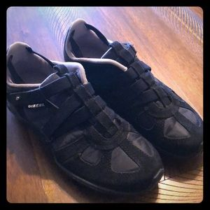 Diesel sneakers- no laces! Black leather upper